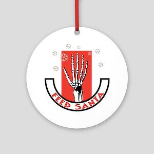 Feed Santa Ornament (Round)