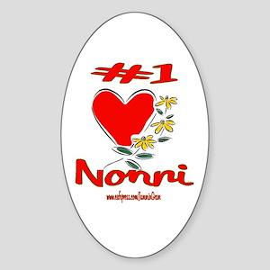#1 NONNI Oval Sticker