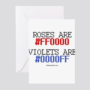 Roses are red (#FF000) ~ Greeting Cards (Pk of 20)