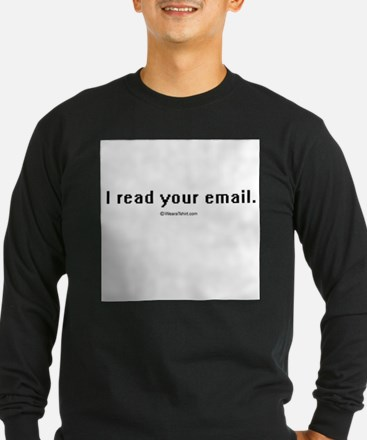 I read your email ~ T