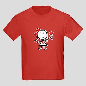 Girl & Red Ribbon Kids Dark T-Shirt