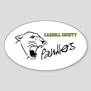 Panther Oval Sticker