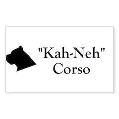 Kah Ney Corso Rectangle Decal
