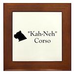 Kah Ney Corso Framed Tile