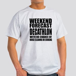 Weekend Forecast Discus throw Sports Light T-Shirt
