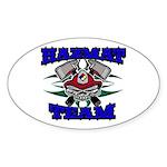 HAZMAT TEAM Oval Sticker