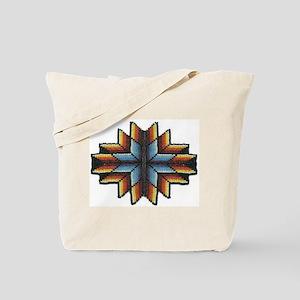Beaded Tribal Starburst Tote Bag