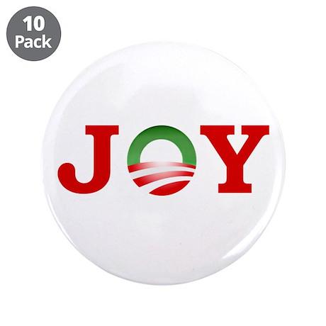 """OBAMA JOY! 3.5"""" Button (10 pack)"""