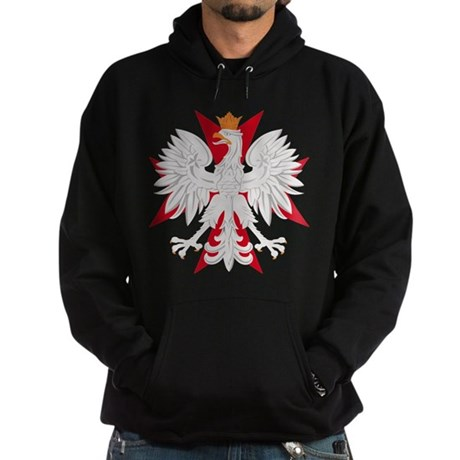 Polish Eagle Red Maltese Cros Hoodie (dark)