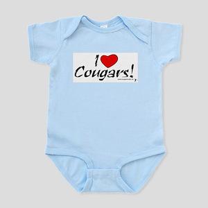 Classic I Love Cougars Infant Creeper