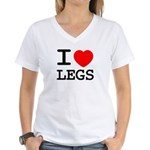 I heart legs Women's V-Neck T-Shirt