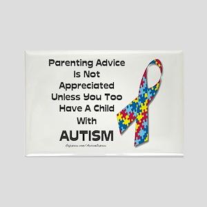 Parenting Autism (advice) Rectangle Magnet