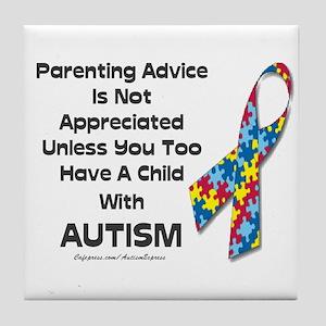 Parenting Autism (advice) Tile Coaster