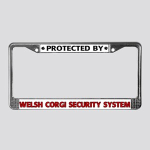 Welsh Corgi Security License Plate Frame
