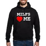 Milfs heart me Hoodie (dark)