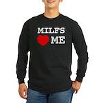 Milfs heart me Long Sleeve Dark T-Shirt