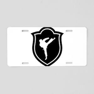 Karate Karateka Fight Fight Aluminum License Plate