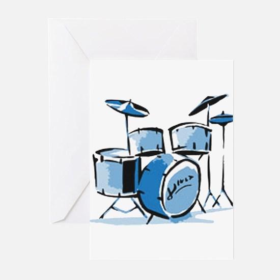 Drum Set Drums Greeting Cards (Pk of 10)