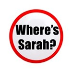 """Where's Sarah? 3.5"""" Button"""