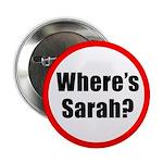 """Where's Sarah? 2.25"""" Button"""