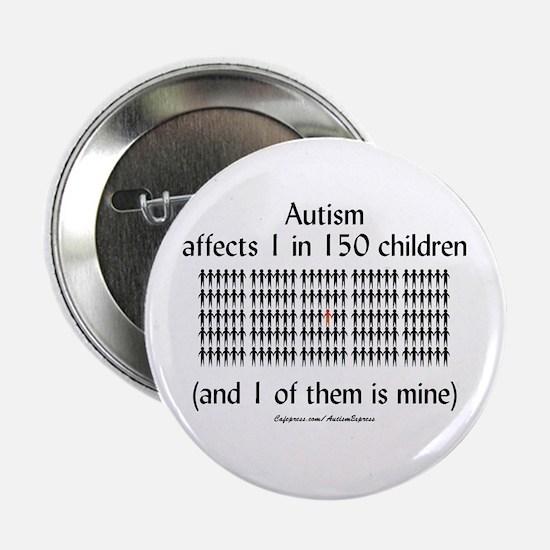 "Autism 1 in 150 (black) 2.25"" Button"