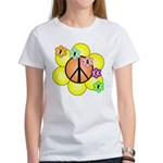 Peace Blossoms / orange Women's T-Shirt