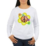 Peace Blossoms / orange Women's Long Sleeve T-Shir