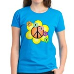 Peace Blossoms / orange Women's Dark T-Shirt