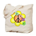 Peace Blossoms / orange Tote Bag