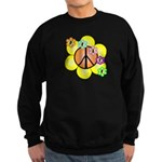 Peace Blossoms / orange Sweatshirt (dark)