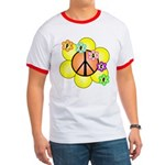 Peace Blossoms / orange Ringer T