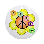 Peace Blossoms / orange Ornament (Round)