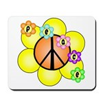 Peace Blossoms / orange Mousepad