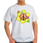 Peace Blossoms / orange Light T-Shirt