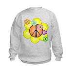 Peace Blossoms / orange Kids Sweatshirt