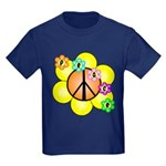 Peace Blossoms / orange Kids Dark T-Shirt