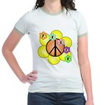 Peace Blossoms / orange Jr. Ringer T-Shirt