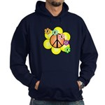 Peace Blossoms / orange Hoodie (dark)