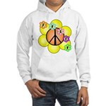 Peace Blossoms / orange Hooded Sweatshirt