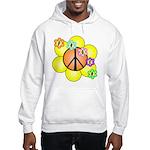 Peace Blossoms / orange Hooded Sweatshirt