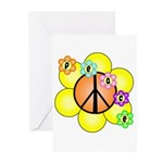 Peace Blossoms / orange Greeting Cards (Pk of 10)