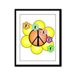 Peace Blossoms / orange Framed Panel Print