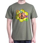 Peace Blossoms / orange Dark T-Shirt