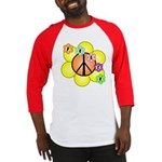 Peace Blossoms / orange Baseball Jersey