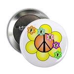 "Peace Blossoms / orange 2.25"" Button"