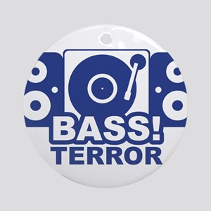 bass terror Round Ornament