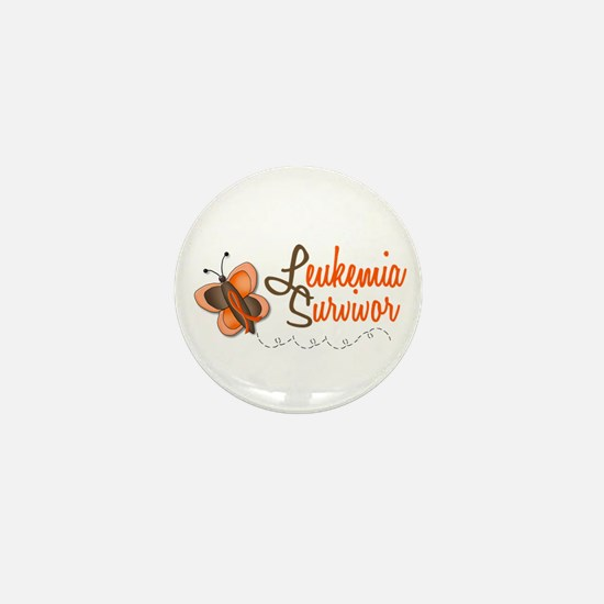 Leukemia Survivor 1 Butterfly 2 Mini Button