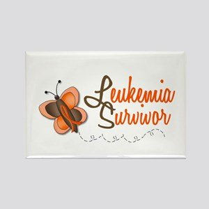 Leukemia Survivor 1 Butterfly 2 Rectangle Magnet