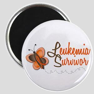 Leukemia Survivor 1 Butterfly 2 Magnet