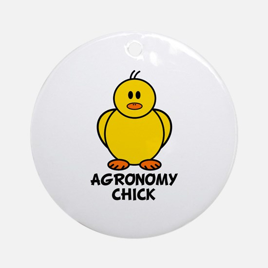 Agronomy Chick Ornament (Round)